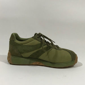 NM70 Shoes - NM70 Funky Vintage Two-Tone Olive Green Sneakers
